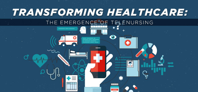 Ambulance, medical files, medication and other symbols of healthcare with hand holding a smart phone.