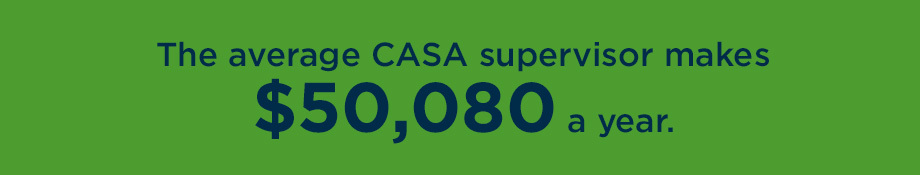 CASA supervisor salary quote graphic.