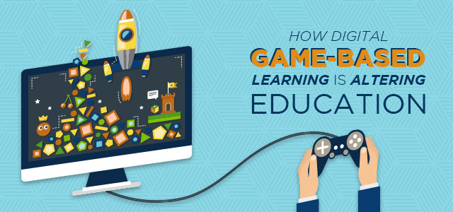 How Digital Game Based Learning is Altering Education - header image with a video game controller hooked to a computer monitor