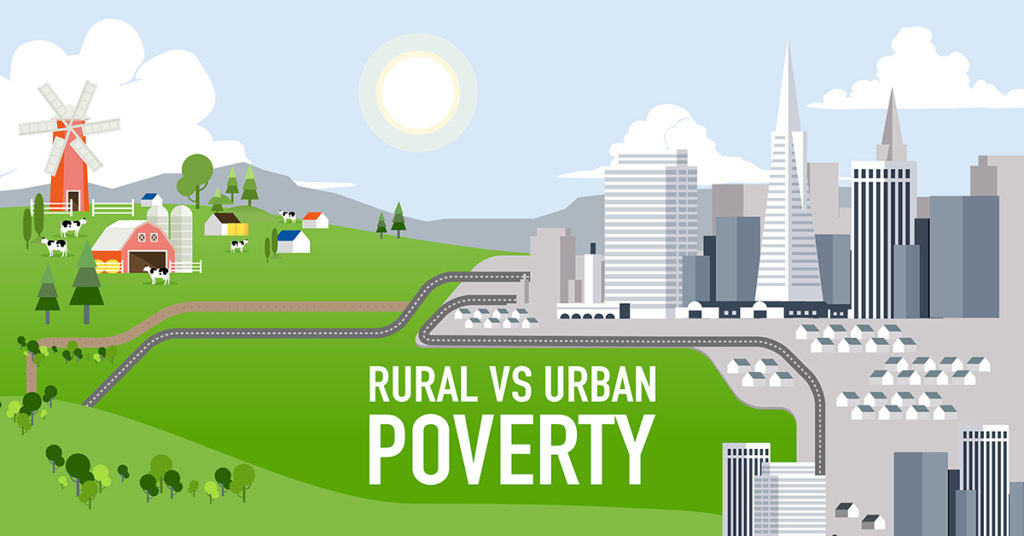 There are important differences between rural vs urban poverty.