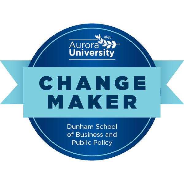Aurora University's Change Maker Badge