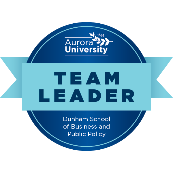 Aurora University's Team Leader Badge